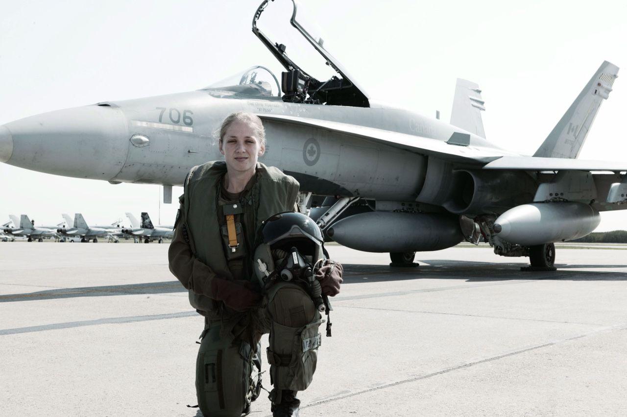 Royal Canadian Air Force female fighter pilot Heroe