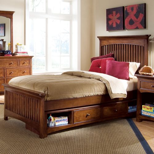 Crossover Wood Spindle Bed By Lea Furniture Furniture