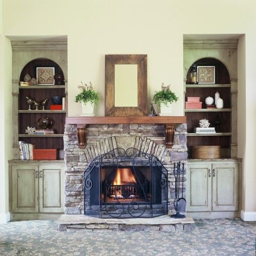 Cabinet Mantel: Add Corbels To A Fireplace Mantel. Turn A Simple Mantel