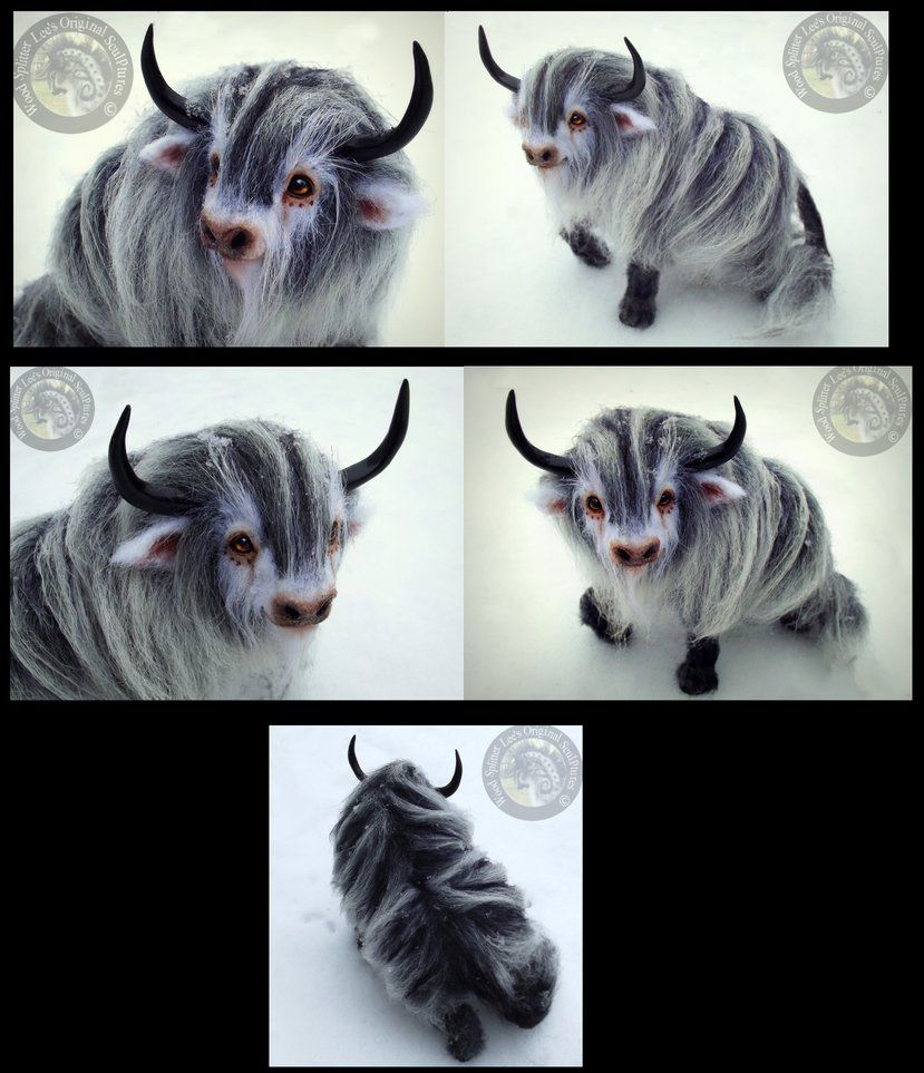 Hand Made Poseable Fantasy Baby Yak! by Wood-Splitter-Lee on DeviantArt