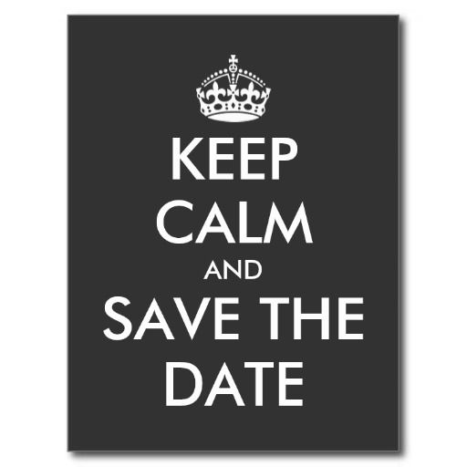 keep calm and save the date postcard wedding wedding online