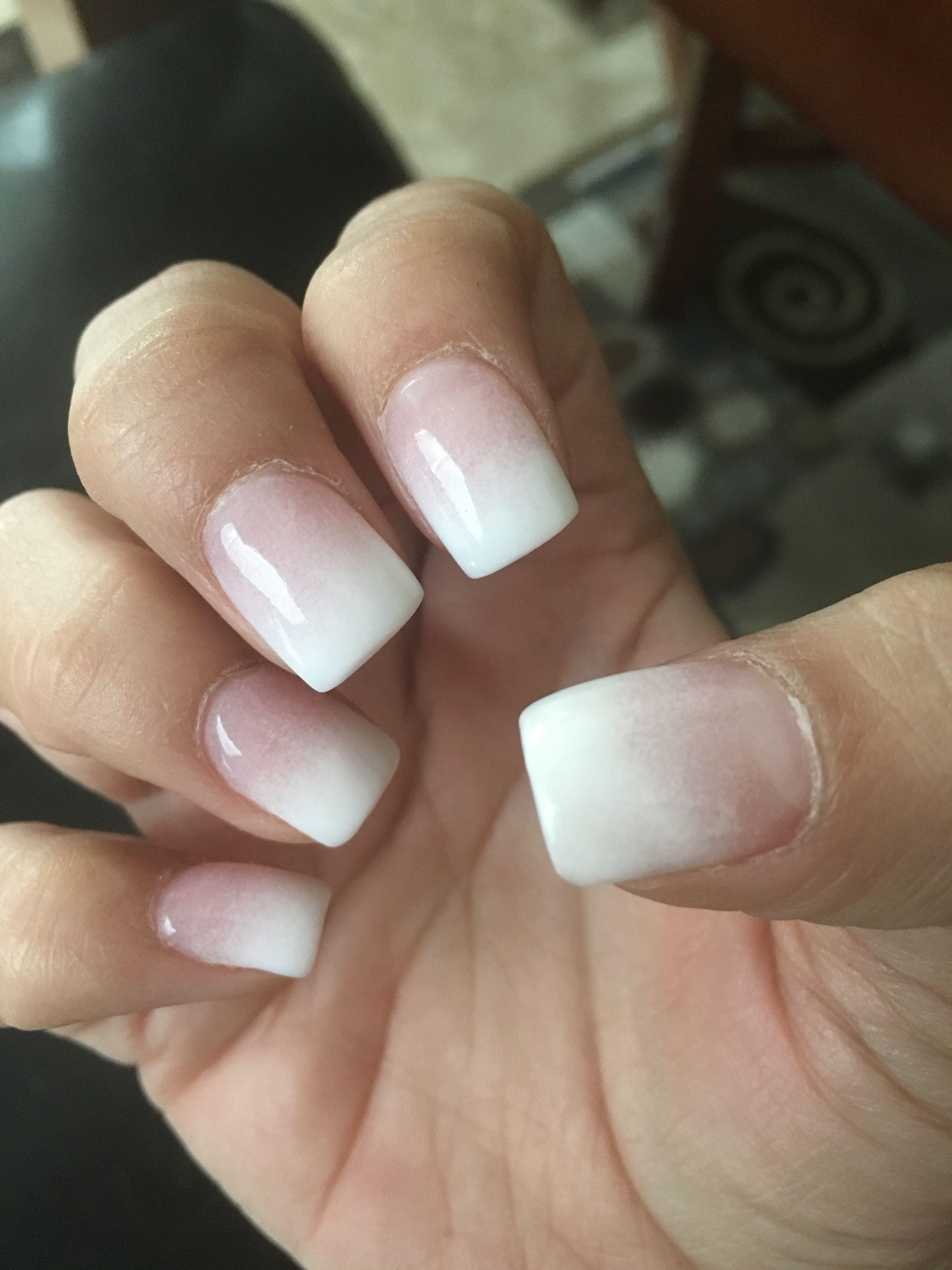 Pink And White Ombre Nexgen Nails Nexgen Nails Nexgen Nails Colors Pink Nails