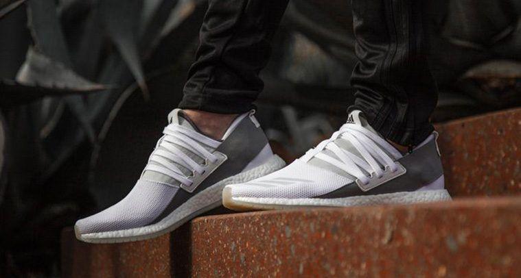 adidas Pure Boost R White Grey  103ee93ae
