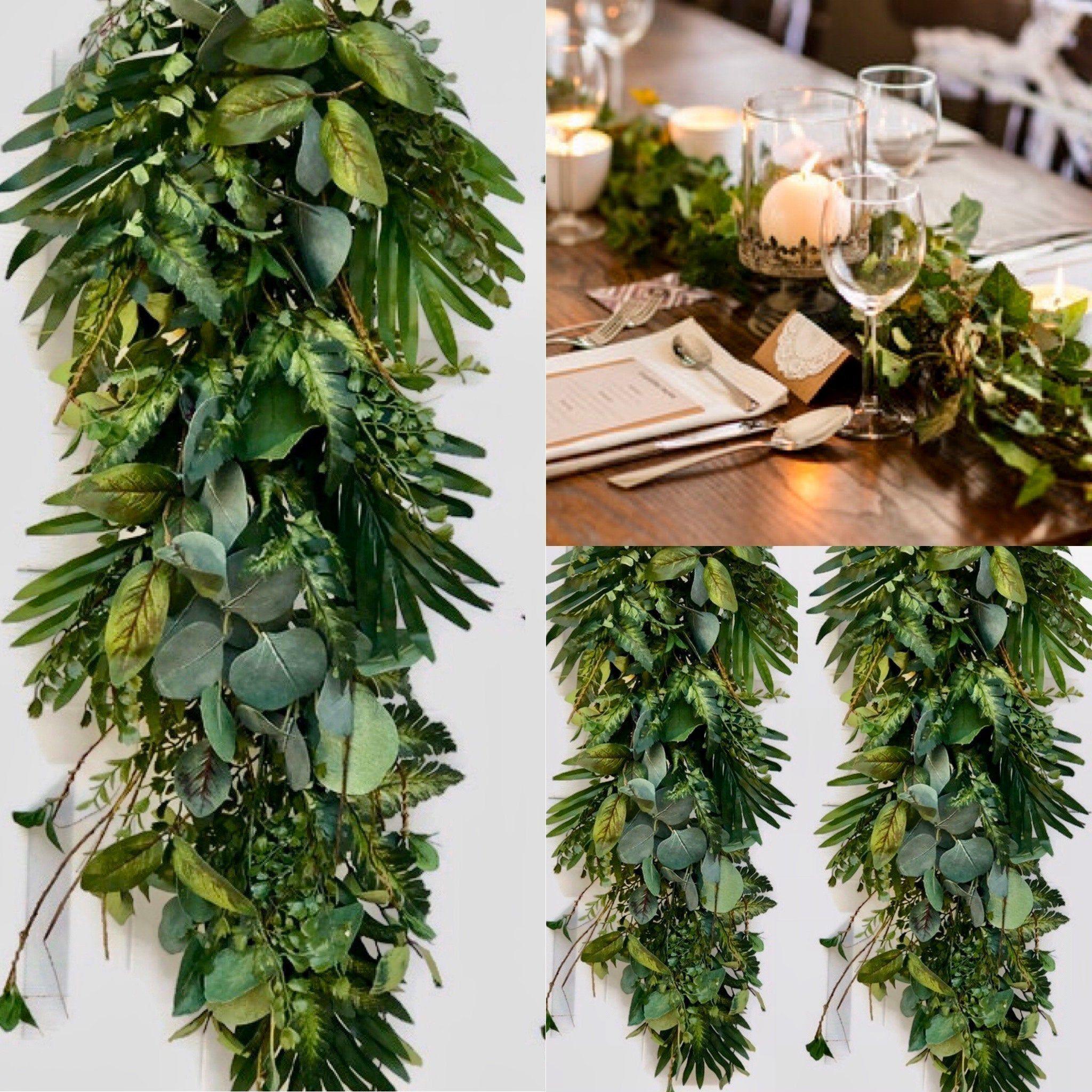 Eucalyptus Garland Wedding Arch Decor Wedding Garland Greenery Garland Weddin In 2020 Greenery Garland Custom Wedding Decor Garland Backdrops