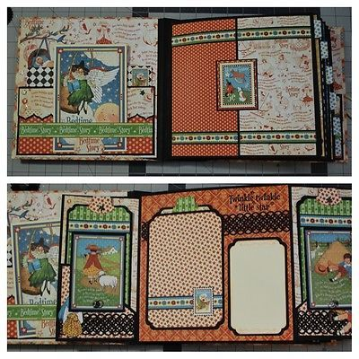 Beautifully-Hand-Crafted-Mini-Scrapbook-Graphic-45-Mother-Goose