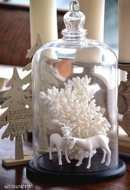 Bell Jar Decorating Ideas Brilliant Christmas Cloche Decorating Ideas Cloche Decor Ideas Diy Glass Inspiration