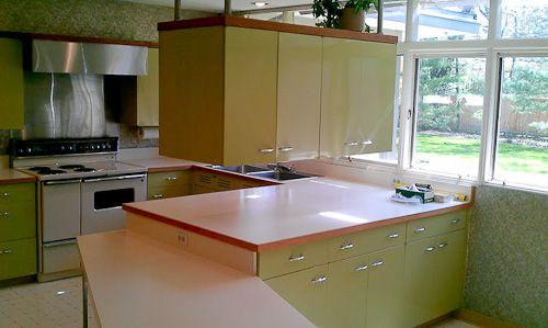 Custom Green 1964 St Charles Kitchen Retro Kitchen Kitchen Cabinets For Sale Mid Century Modern Kitchen
