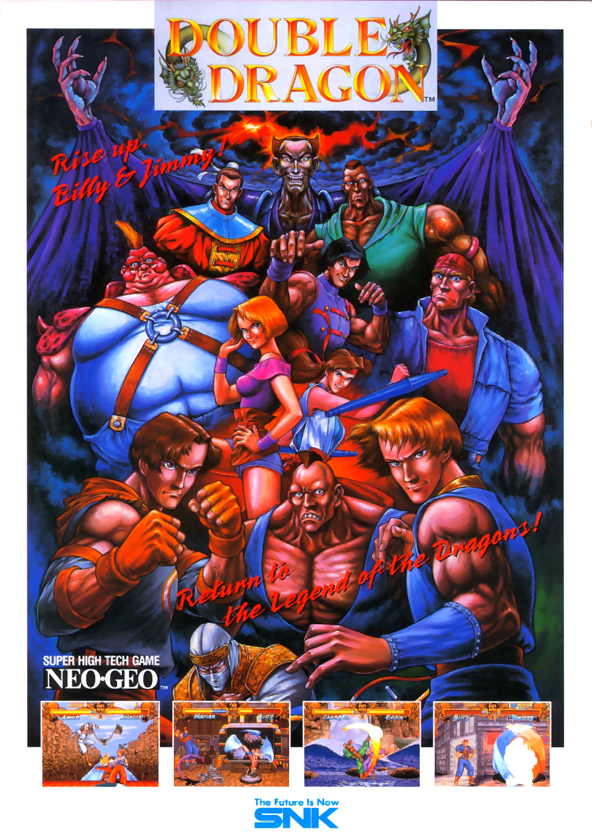 Double Dragon Flyer In 2020 Double Dragon Retro Gaming Art Neo Geo