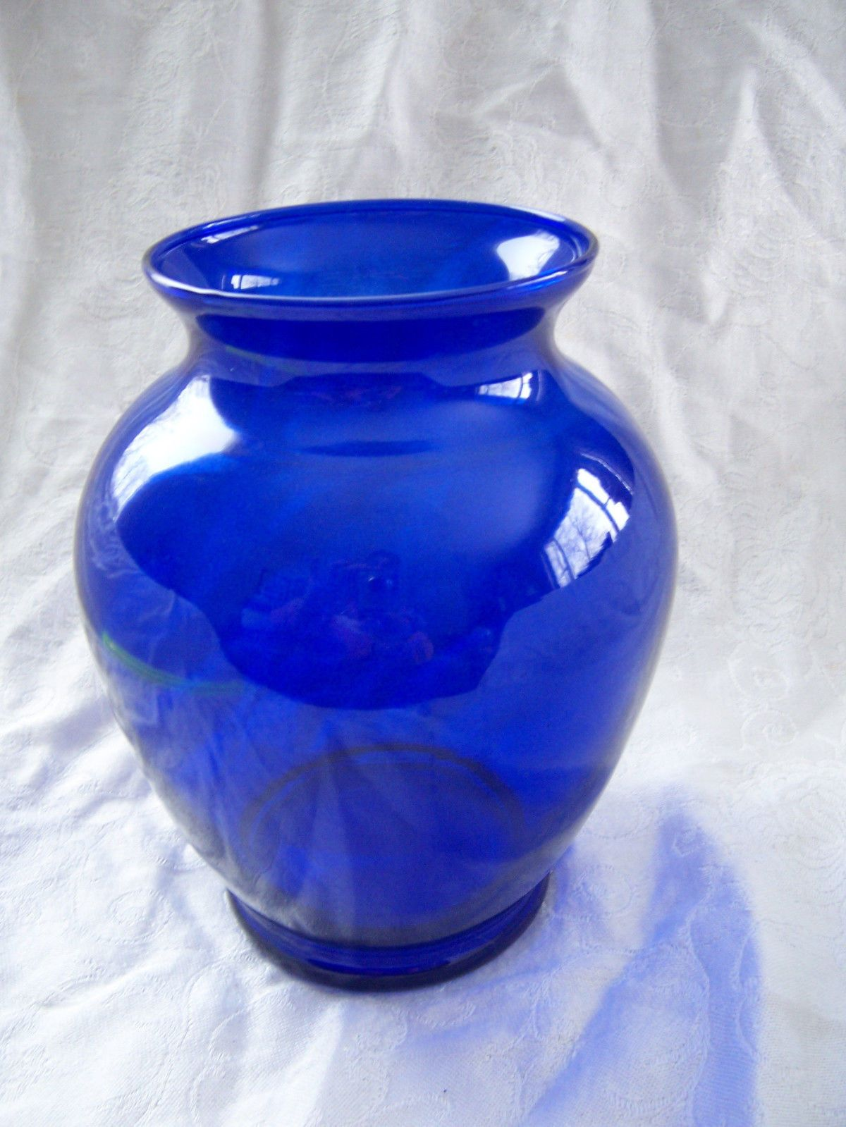 Vintage deep cobalt blue glass hobnail flower vase made usa 1 1940 cobalt glass vase deep blue flared top wide middle heavy glass deep blue hue 8 floridaeventfo Image collections