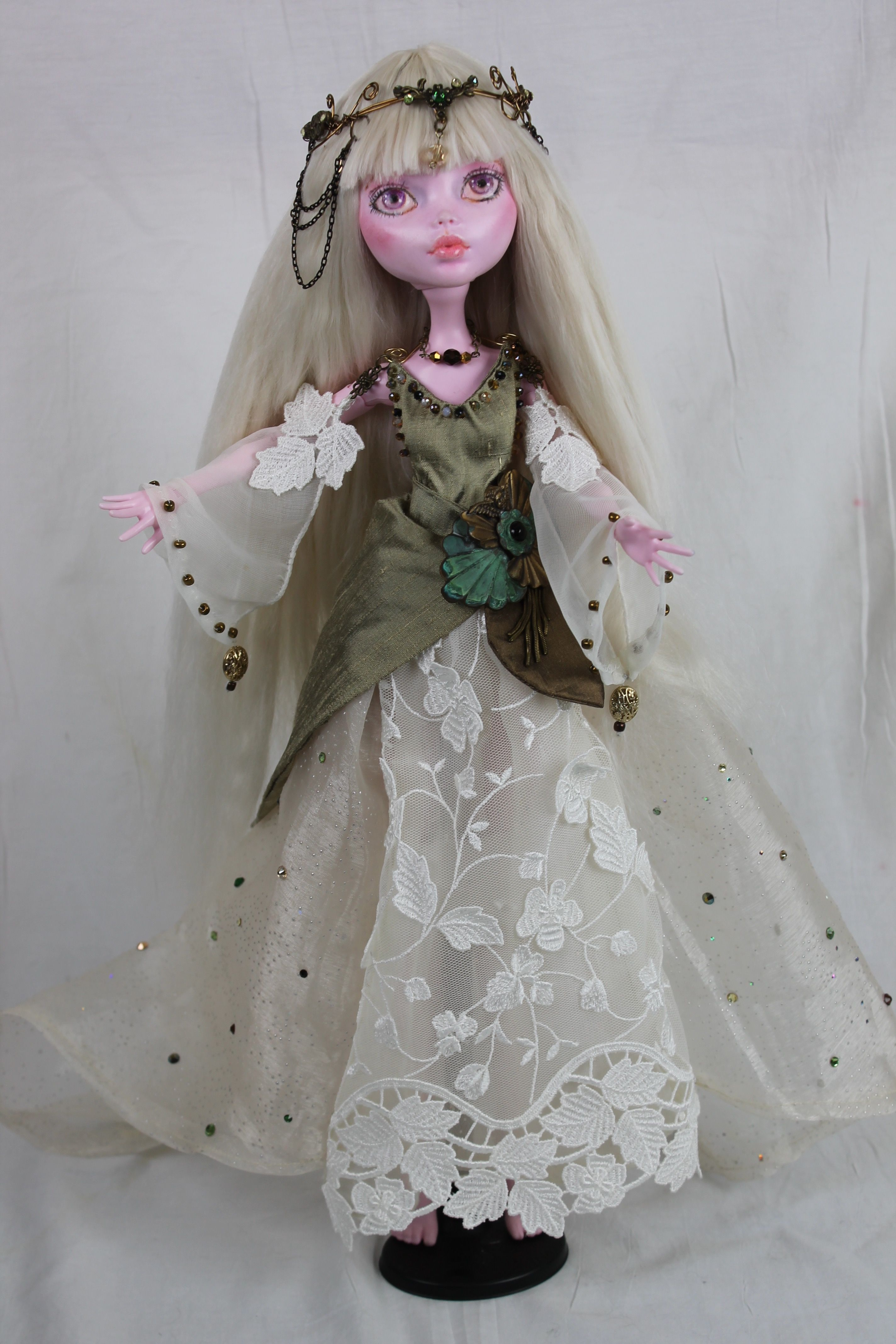 """A 17"""" MH doll I repainted."""