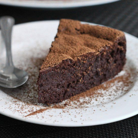 Four Ingredient Chocolate Mousse Cake Gluten Free Decadent And