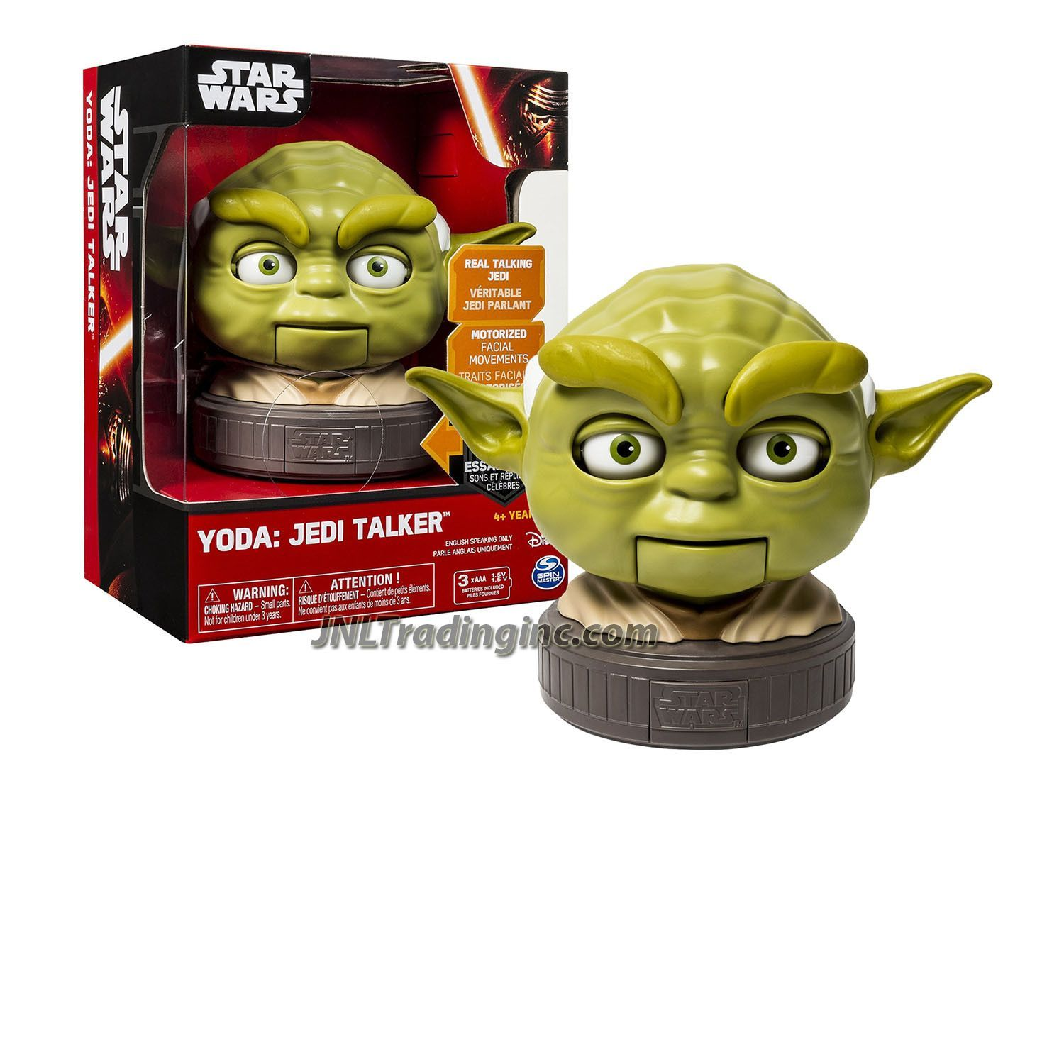 "Star Wars Real Talking Jedi with Motorized Facial Movement 5-1/2"" Tall Figure - YODA the Jedi Talker"