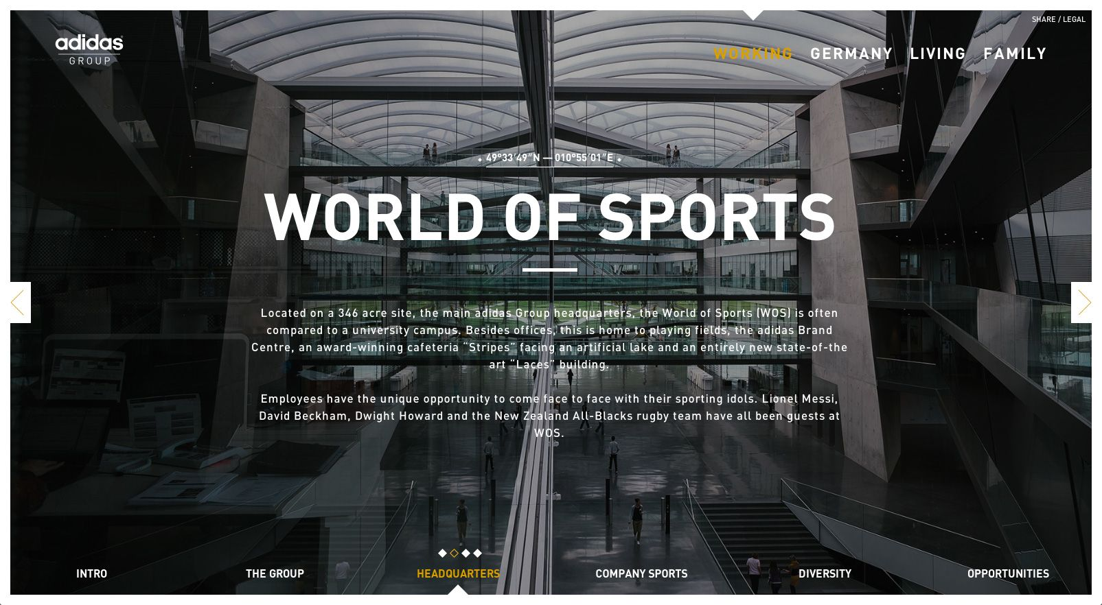 Adidas Group Hq In Herzogenaurach Germany Http Herzo Adidas Group Com With Images University Campus World Of Sports Iwo