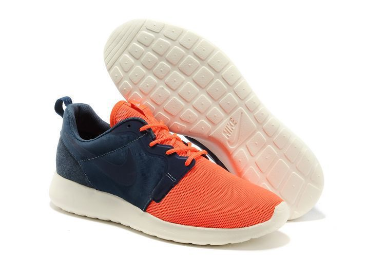 Nike Roshe Run 2014 Luminous Weight Mesh Mens Shoes Orange Blue White
