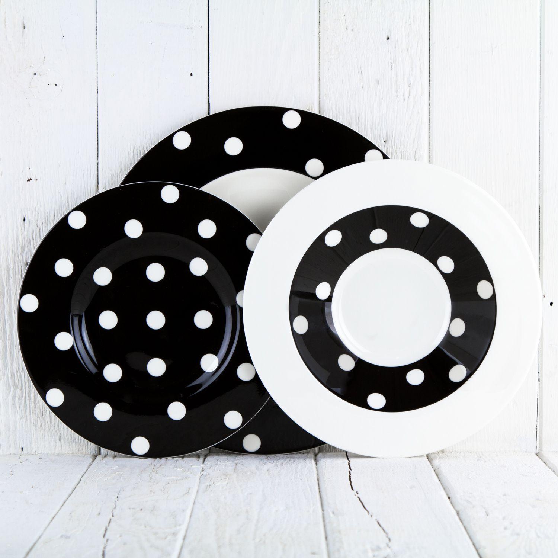 Black Polka Dot Dinnerware  sc 1 st  Pinterest & Black Polka Dot Dinnerware | Dinnerware: Polka Dots | Pinterest ...