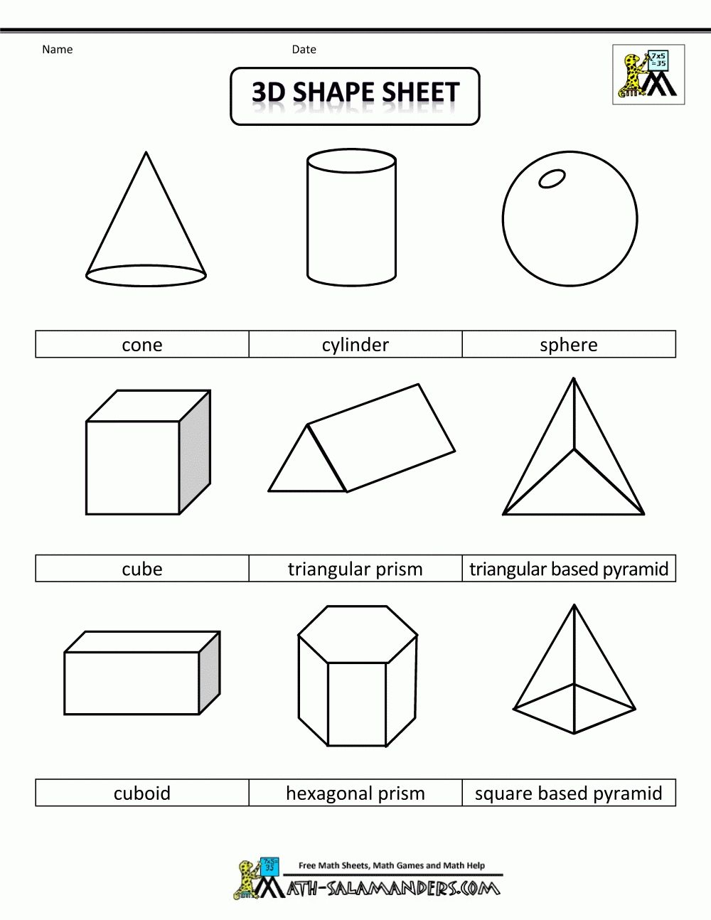 medium resolution of 2d geometric shapes chart   corner of chart and menu   Shapes worksheets