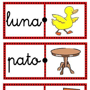 Domino De Palabras Dibujos Silabas Para Imprimir Juegos De Lenguaje Primeros Grados
