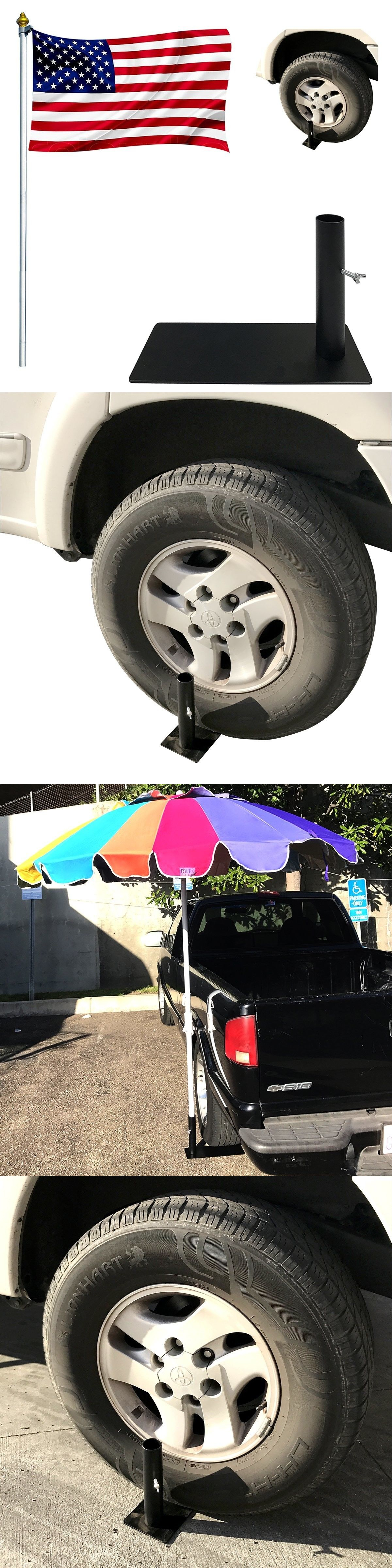 Flag Poles and Parts Tire Mount Flag Pole Holder Tailgate