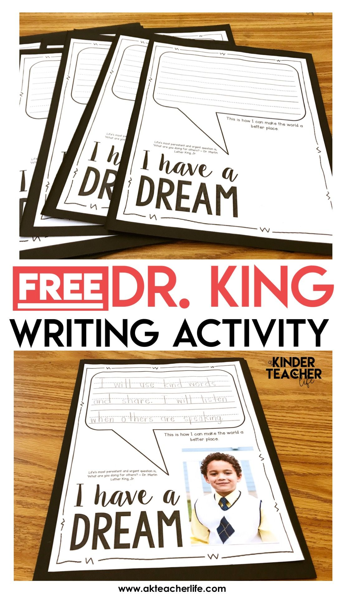 Mlk Writing Prompt And Sort Worksheets