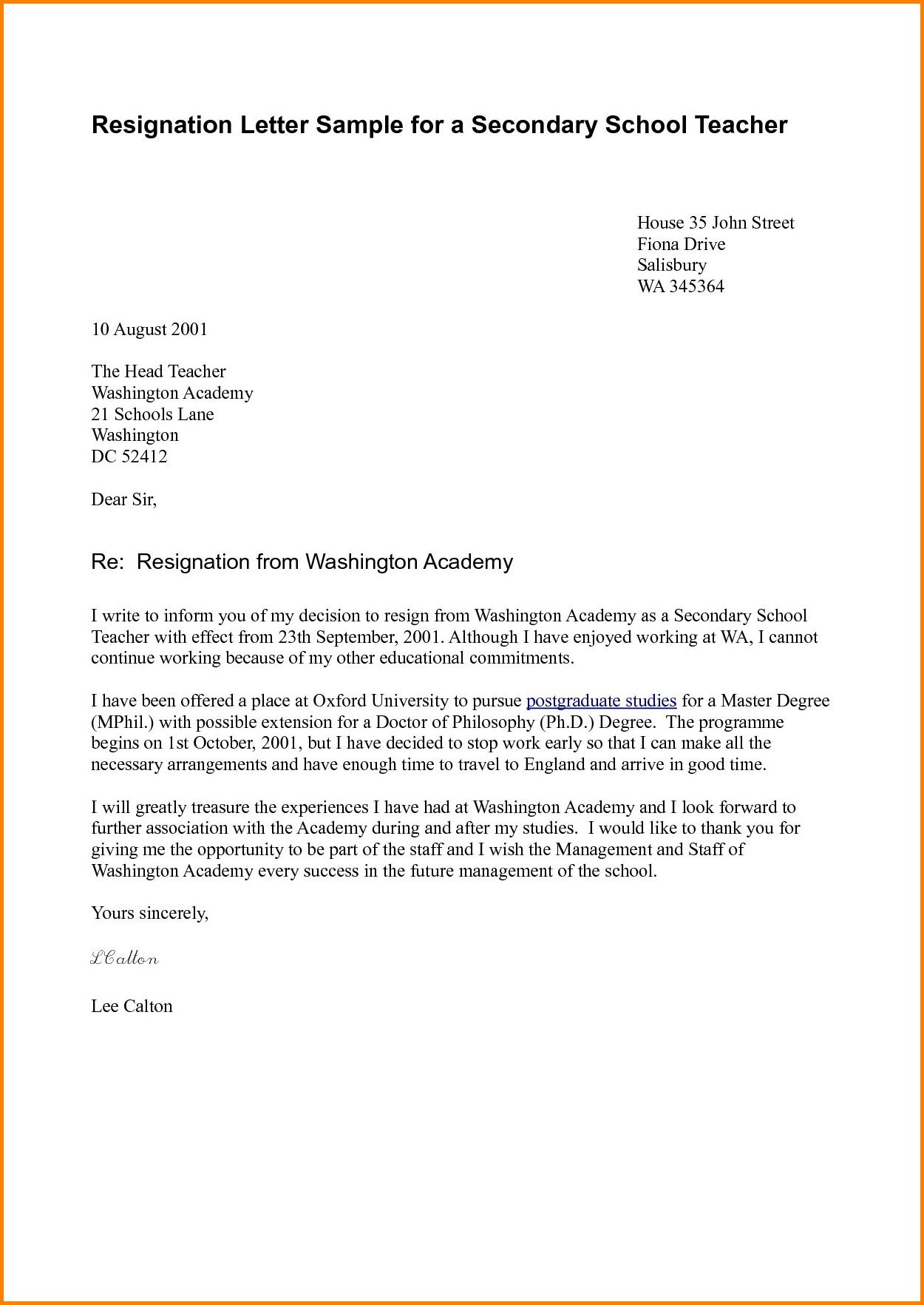 Copy Of Resignation Letter 6 Resignation Letter To Pursue Other Opportunities Resignation Letter Resignation Letter Sample Resignation