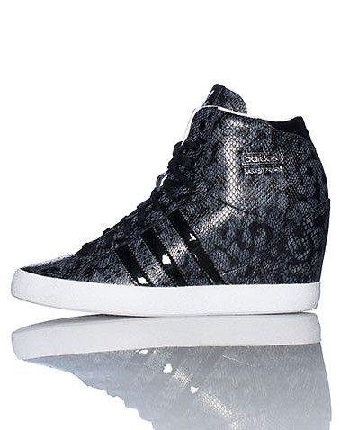 separation shoes 406aa 9af28 adidas WOMENS BASKET PROFI HEEL WEDGE SNEAKER Grey