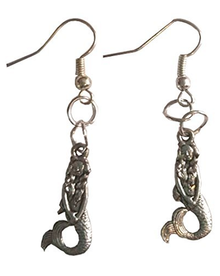 The Little Mermaid Silver Toned Dangle Earrings CLEARANCE SALE $5.99 Created and sold exclusively by Lil Miss Marmalade.