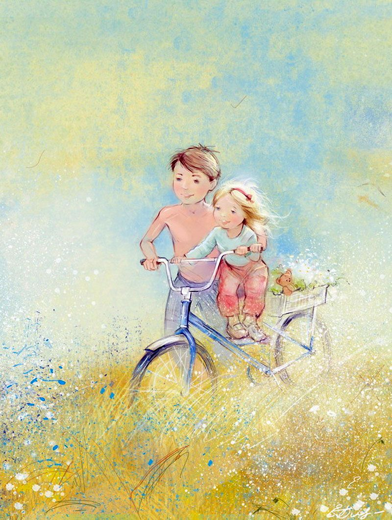 Счастливое детство открытка, открытки картинки