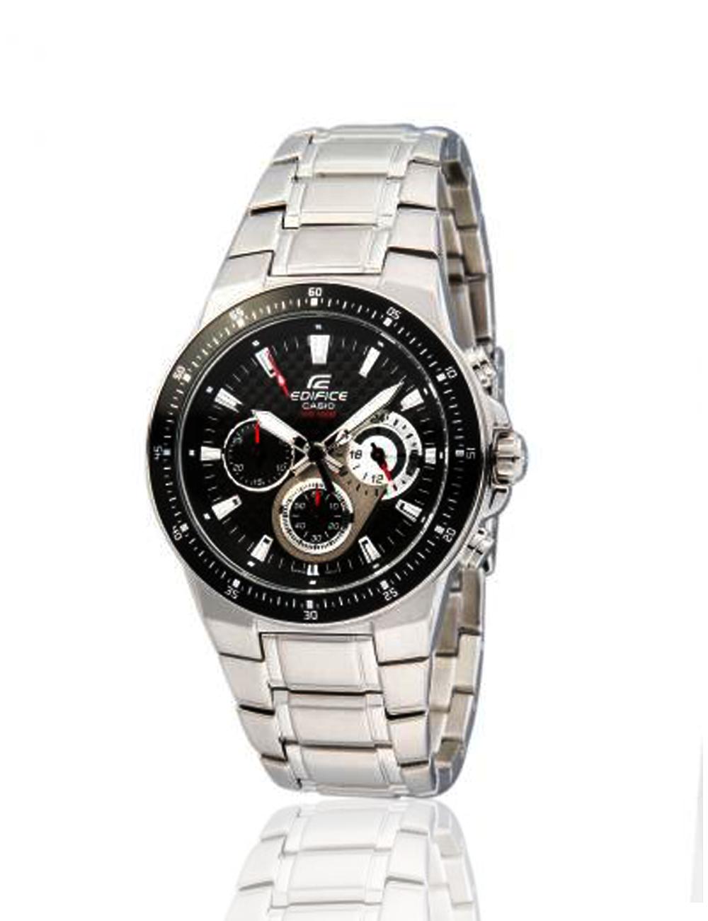 ffa6f16e6ea5 Casio Edifice Stainless Steel Men s Watch EF-552-1AV • Mineral Glass • Screw