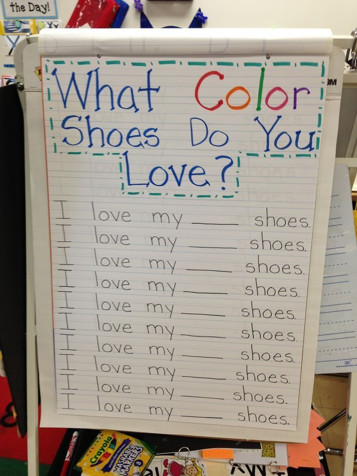 Pete the CatWhat Color Shoes Do You Wear Chart....1/2