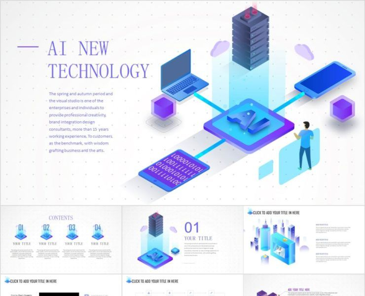 2 In 1 Ai New Technology Powerpoint Template