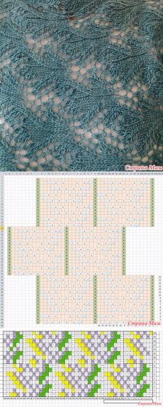ажурный узор спицами - Самое интересное в блогах