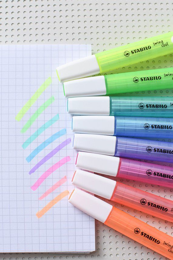 Stabilo Cool Swing, Stabilo highlighters, highlighting pens, Stabilo markers, Neon Highlighters, Stabilo Cool Swing