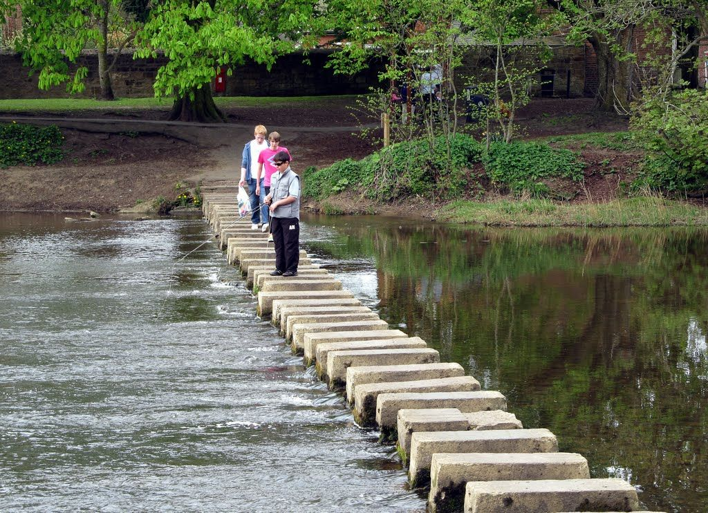 Stepping Stones In Morpeth Northumberland England