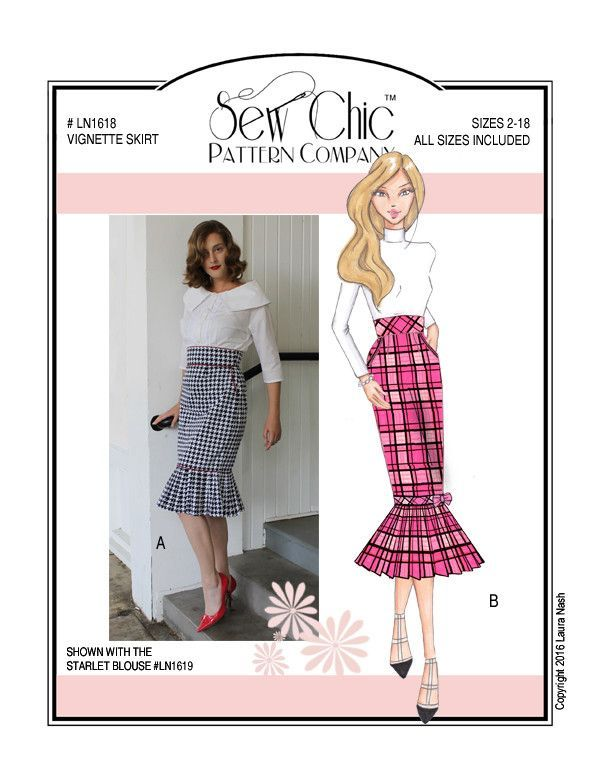 Vignette Skirt Sewing Pattern by Sew Chic Pattern Company | adult ...