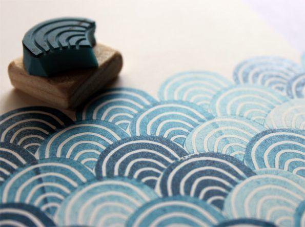 motifvague #fabricstamping motifvague #fabricstamping