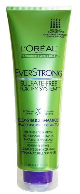 L'Oreal Paris EverStrong Sulfate-Free Fortify System Reconstruct Shampoo, 8.5 Fluid Ounce