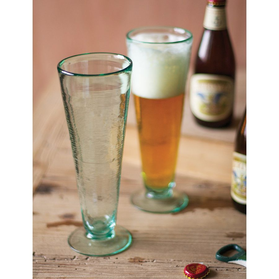 beer glasses recycled