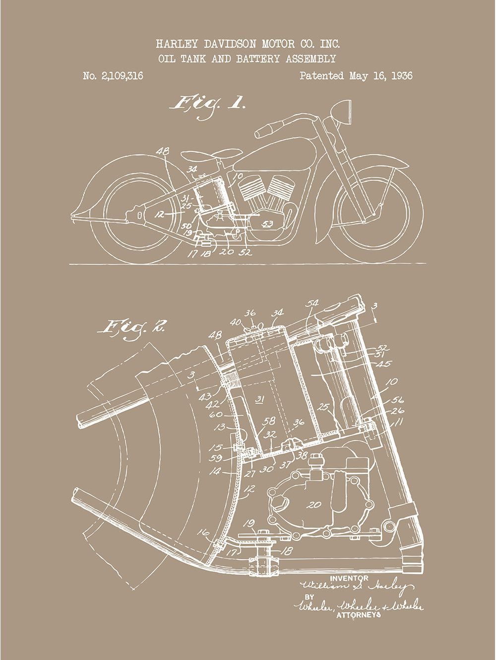 medium resolution of oil tank and battery assembly harley davidson motor co 1936