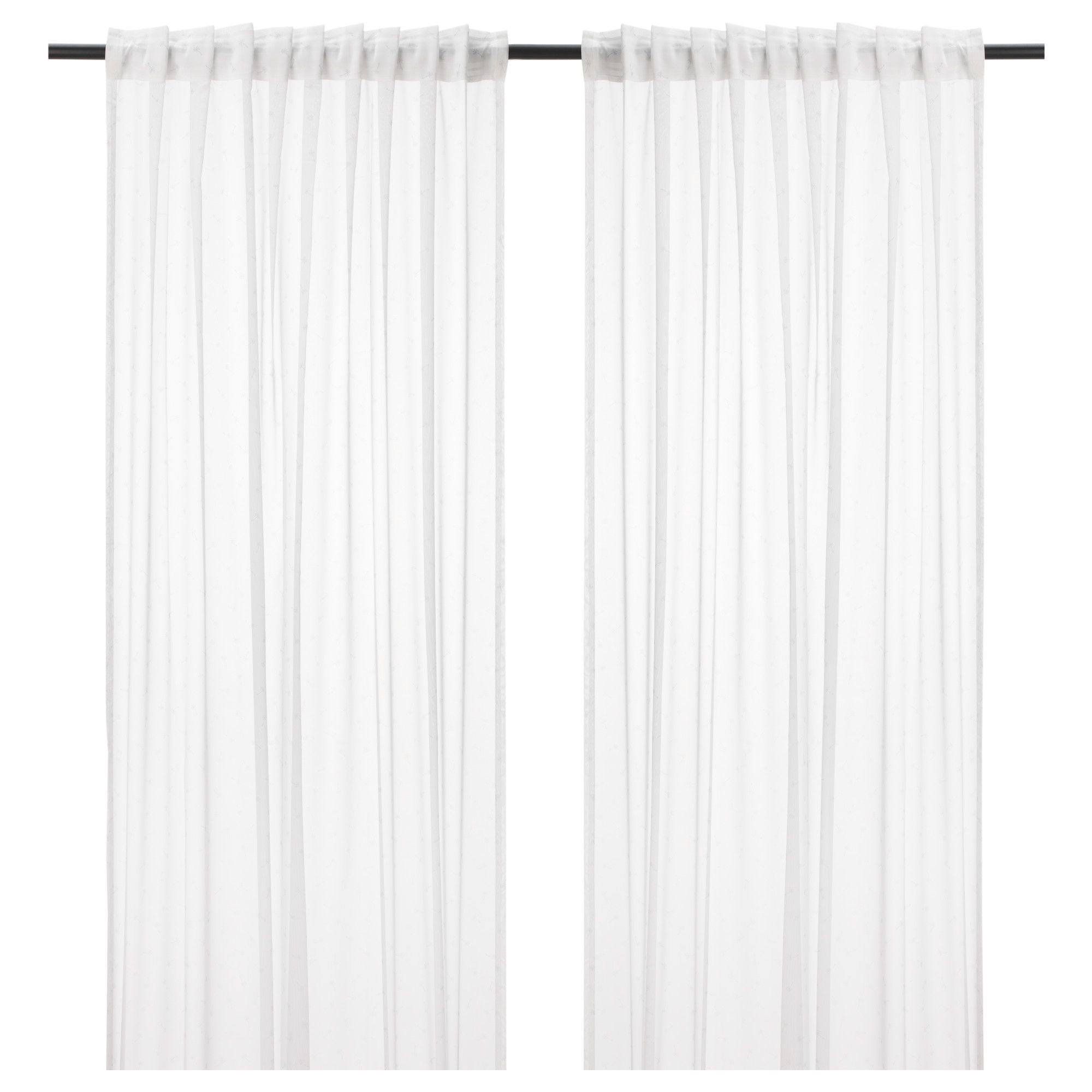 Us Furniture And Home Furnishings White Sheer Curtains Fabric