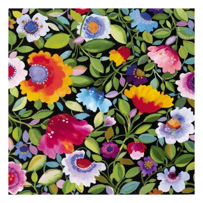 India Garden Textile II Giclee Print by Kim Parker