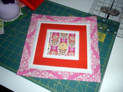 Maniacal Material Girls: Square in square tutorial