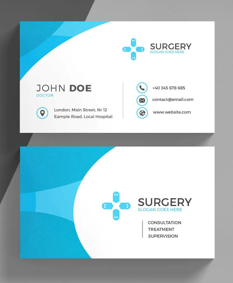 Medical Business Card Template Psd Medical Business Card Medical Business Card Design Free Business Card Templates