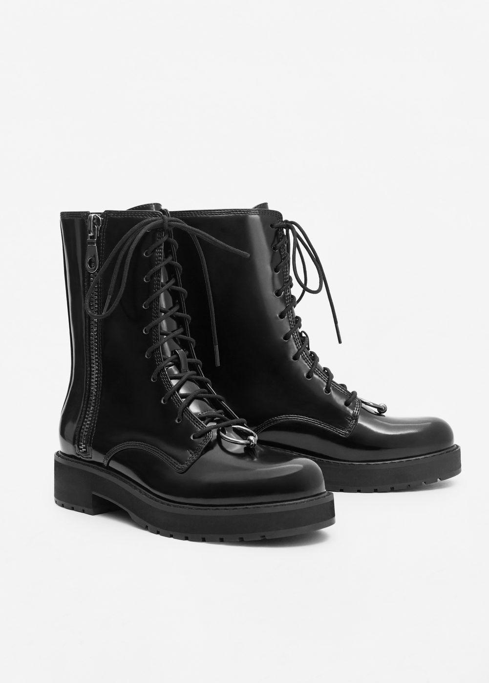 d9fb689c70458 Bota charol cordones - Zapatos de Mujer