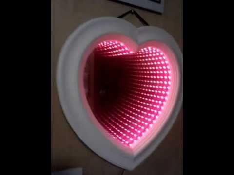 Heart Shaped Infinity Mirror Youtube Infinity Mirror Heart Mirror Infinity Mirror Diy