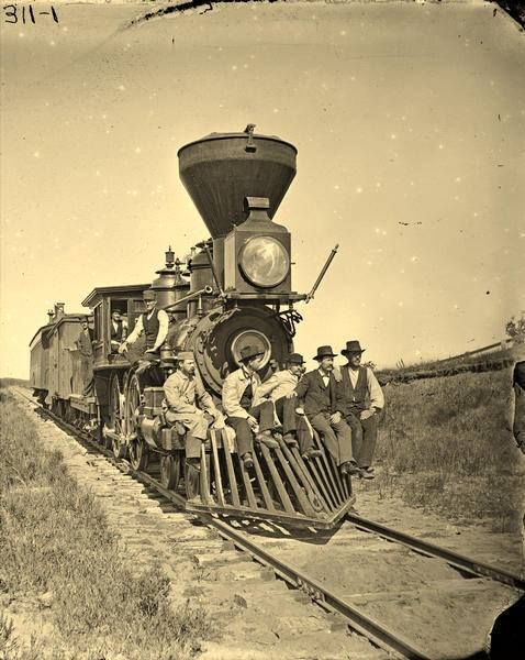 "An undated photo, labeled only as ""Woodburning Locomotive."""