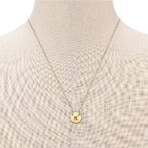 "Women's Silver Plated Letter S Initial Station Necklace - Gold (18"") : Target"