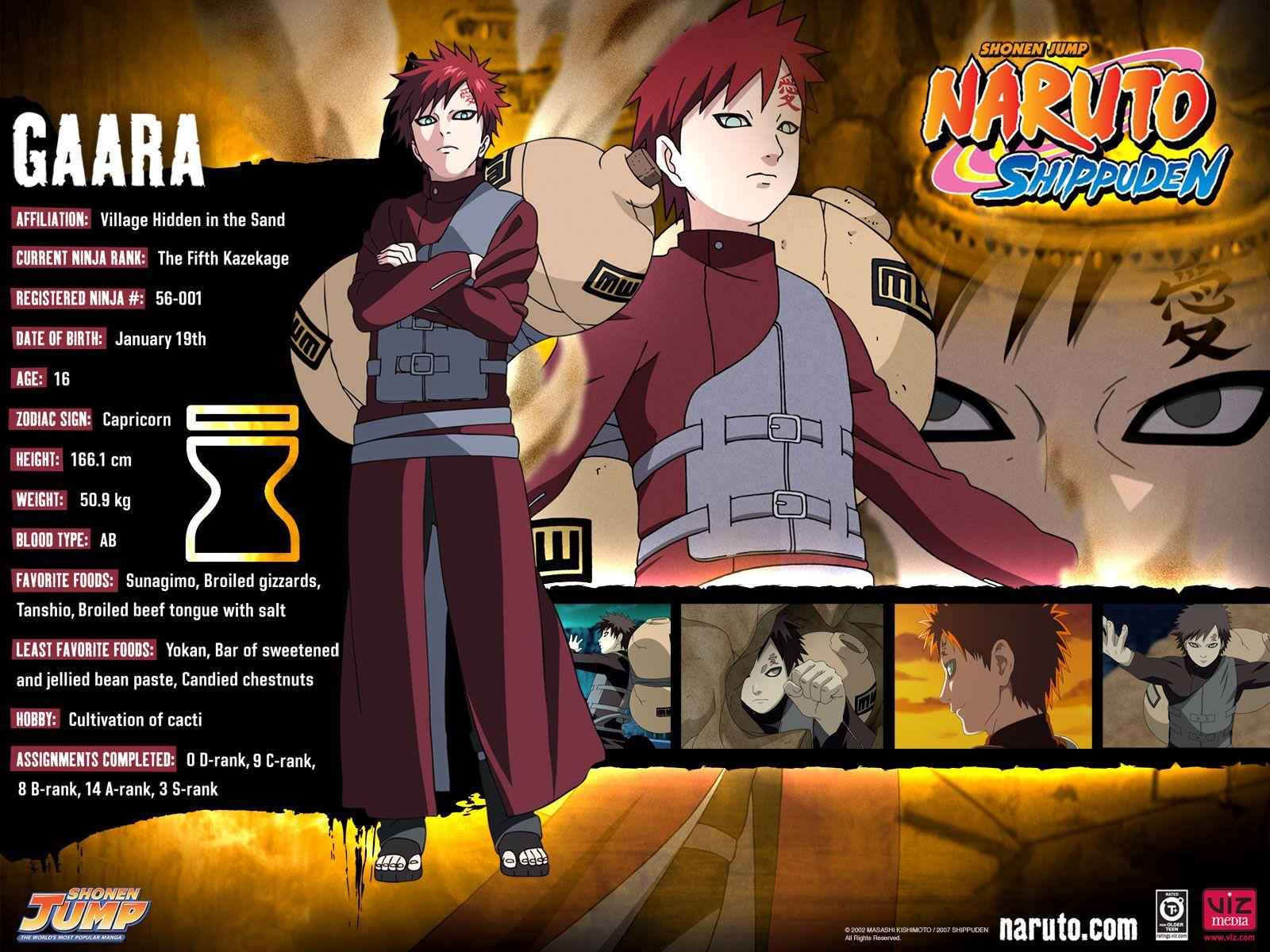 Gaara Naruto shippuden characters, Naruto character info