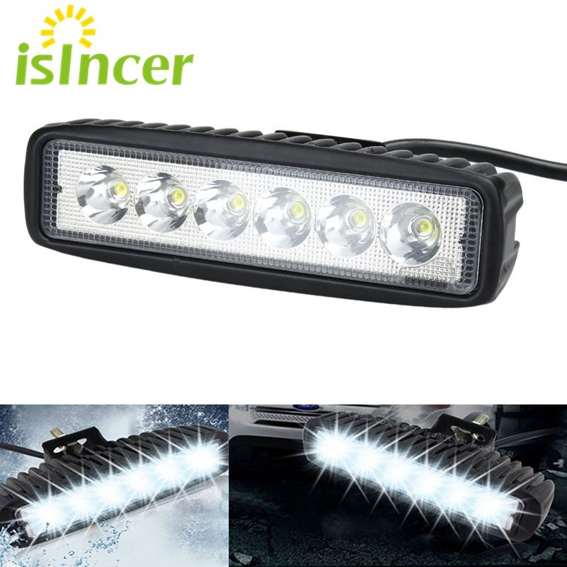 Car Styling Spotlight 18w Car Led Work Lights Bar Flood Light For Trucks 24v 12v Led Off Road Lamp Tractor Led Lights For Trucks Jeep Led Light Bar Work Lights
