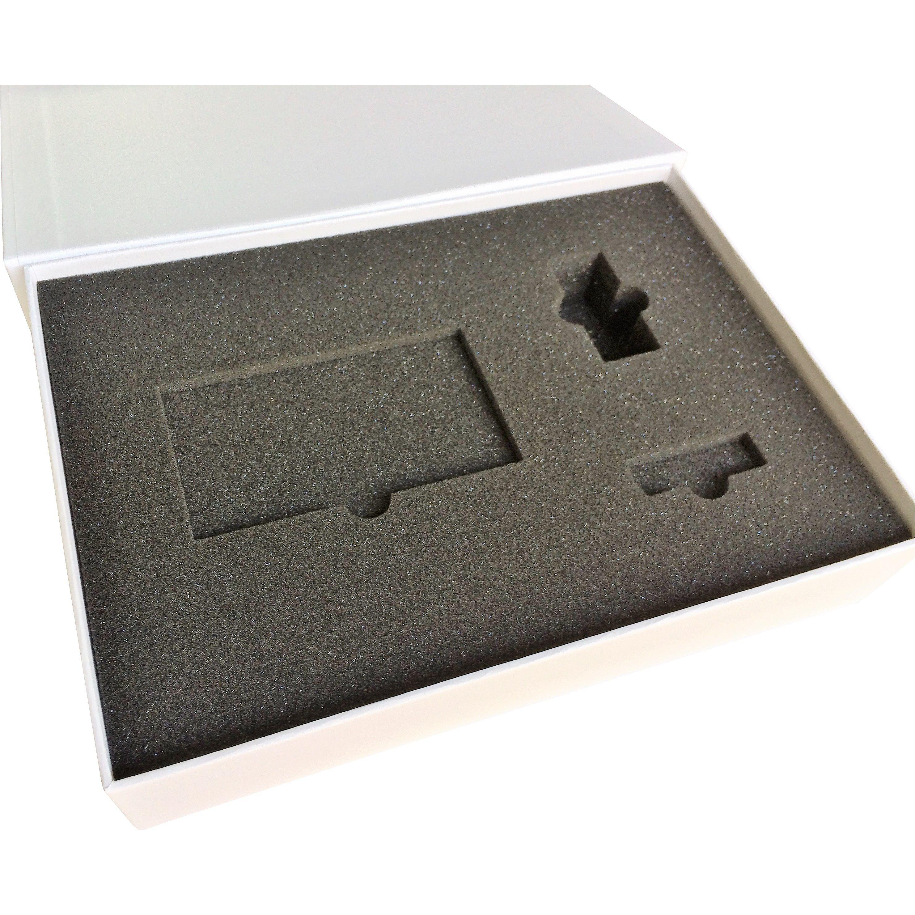 rigid box with cut black foam insert for marketing promotion
