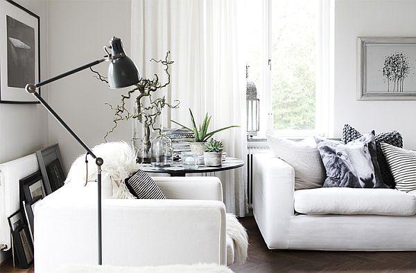 Simple Black And White Scandinavian Interior In B W Black And White Living Room Scandinavian Interior Style Living Room White